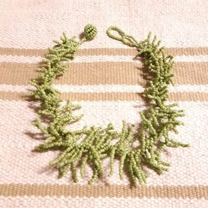 Jewelry - Green Seaweed Coral Choker Necklace